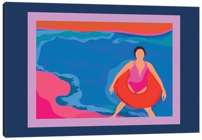 Floating Along Canvas Art Print