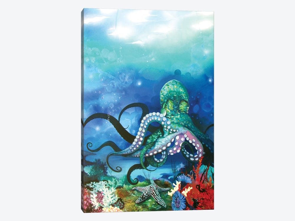 Octocanon by Patricia Rodriguez 1-piece Canvas Artwork