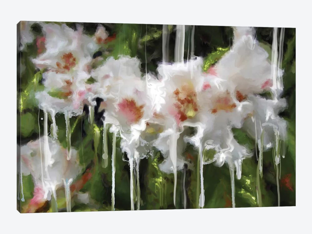 White Flor I by Patricia Rodriguez 1-piece Canvas Artwork