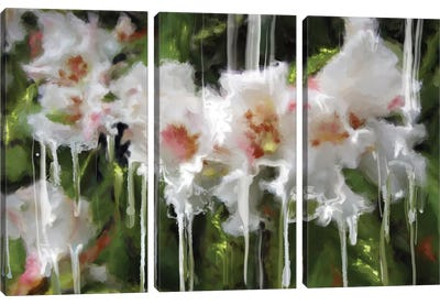 White Flor I Canvas Art Print