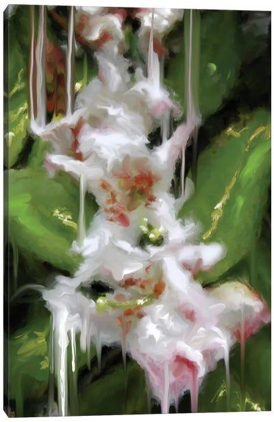 White Flor II Canvas Art Print