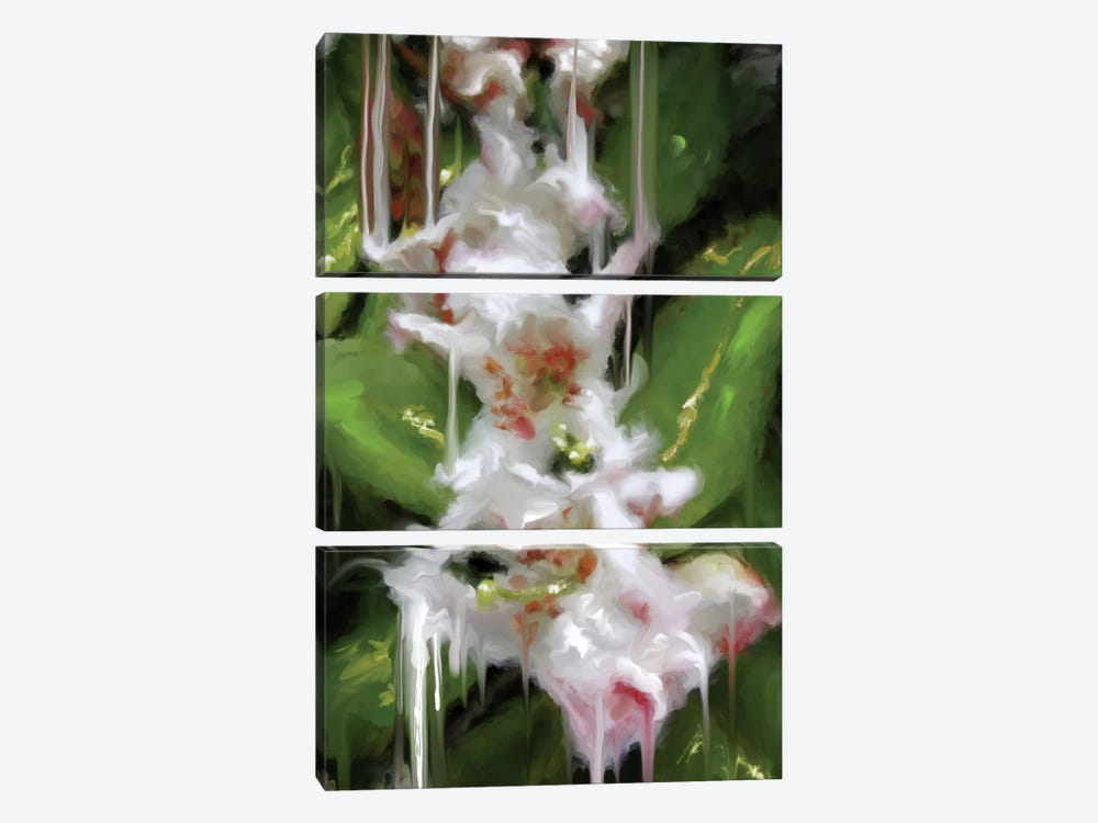 White Flor II by Patricia Rodriguez 3-piece Canvas Artwork