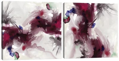 Plum Diptych Canvas Art Print