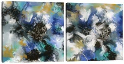 Ochret Diptych Canvas Art Print