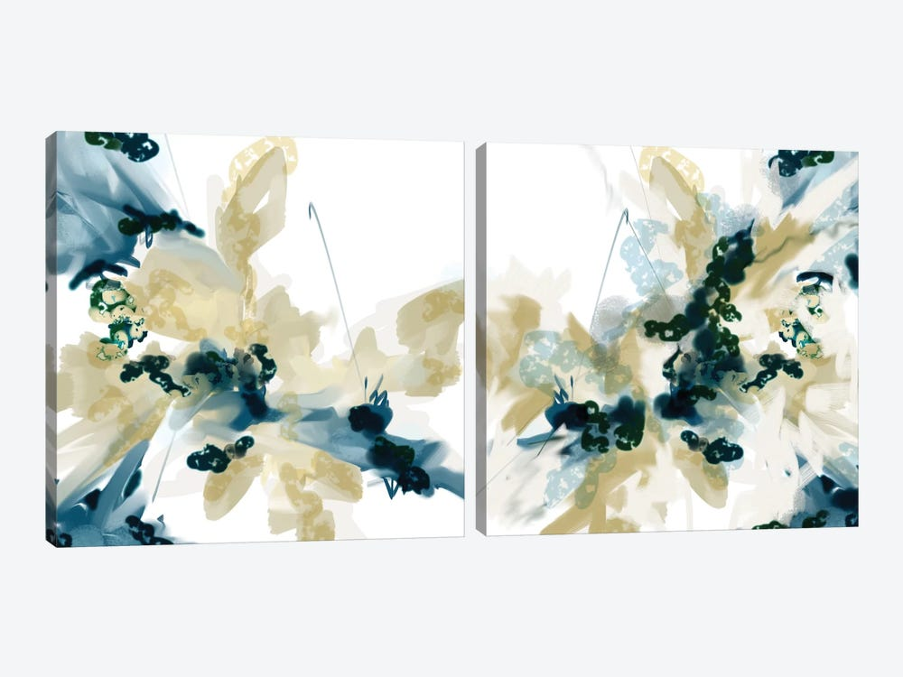 Sanded Diptych by Patricia Rodriguez 2-piece Canvas Art Print