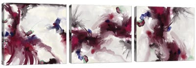Plum Triptych Canvas Art Print