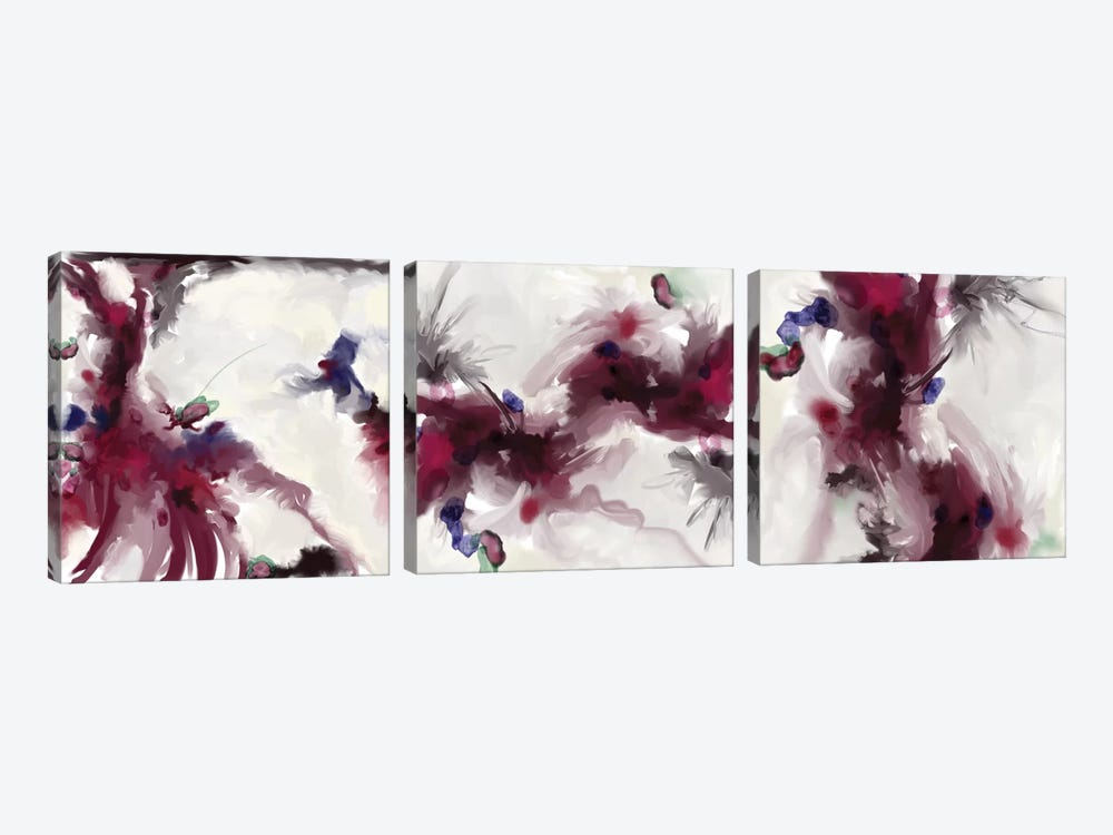 Plum Triptych by Patricia Rodriguez 3-piece Canvas Wall Art