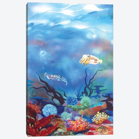Cuttlefish Canvas Print #RGZ6} by Patricia Rodriguez Canvas Art