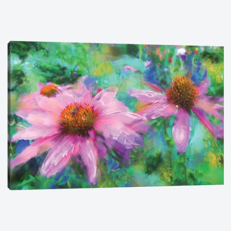 Echinacea Street 3-Piece Canvas #RGZ7} by Patricia Rodriguez Canvas Artwork