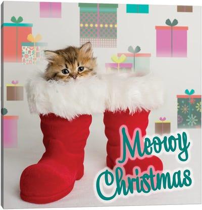 Tutu Meowy Christmas Canvas Art Print