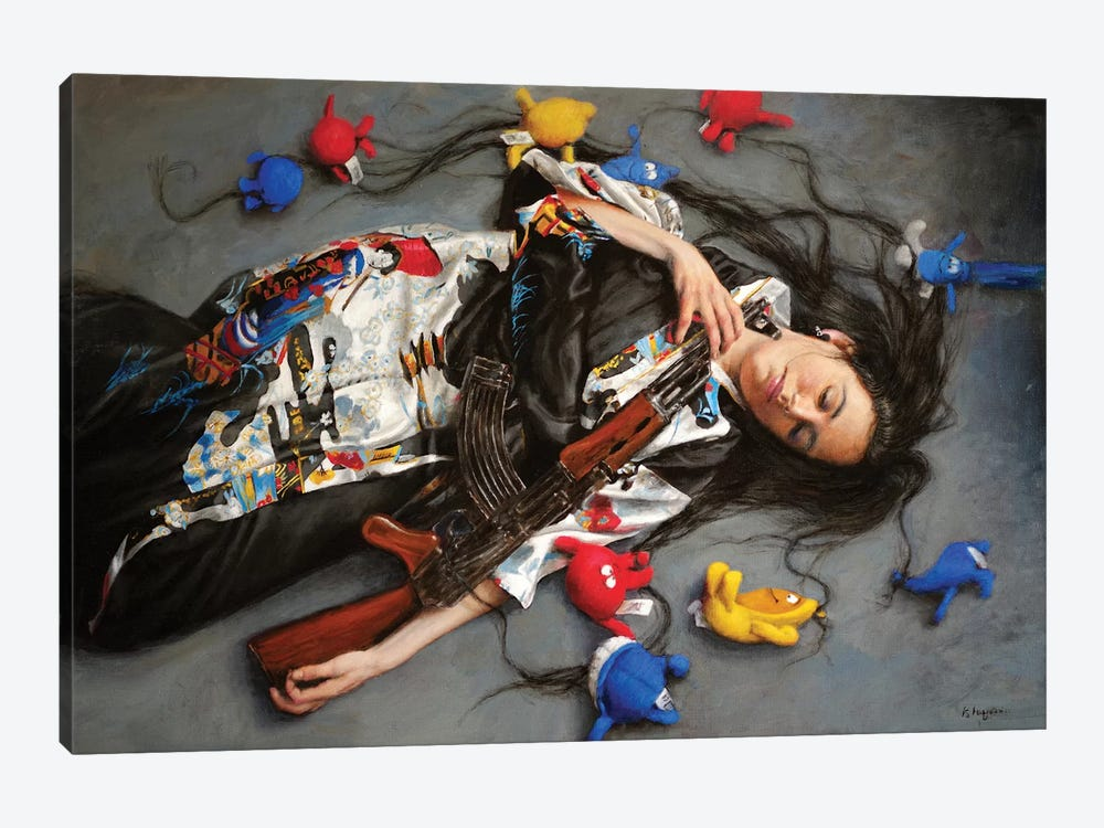 Medusa by Ralf Heynen 1-piece Canvas Print