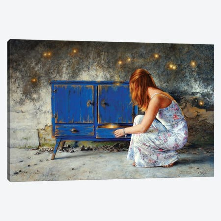 The Night Sky Cabinet Canvas Print #RHE19} by Ralf Heynen Canvas Art