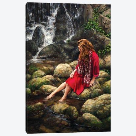 Waterfall Canvas Print #RHE22} by Ralf Heynen Canvas Art Print