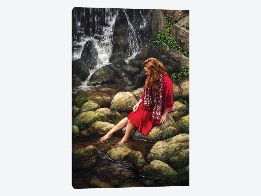 Waterfall by Ralf Heynen 1-piece Canvas Art