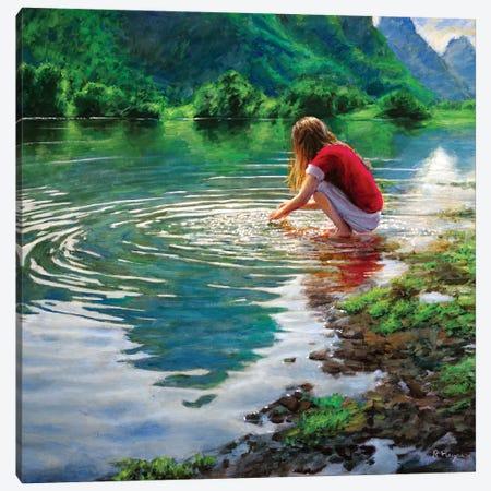 Yulong River Canvas Print #RHE25} by Ralf Heynen Canvas Art