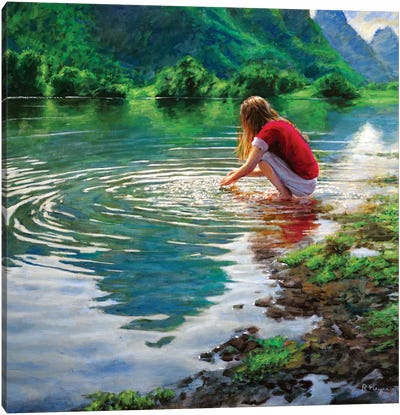 Yulong River Canvas Art Print