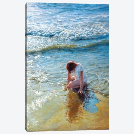 Caressed By The Ocean Canvas Print #RHE3} by Ralf Heynen Canvas Art