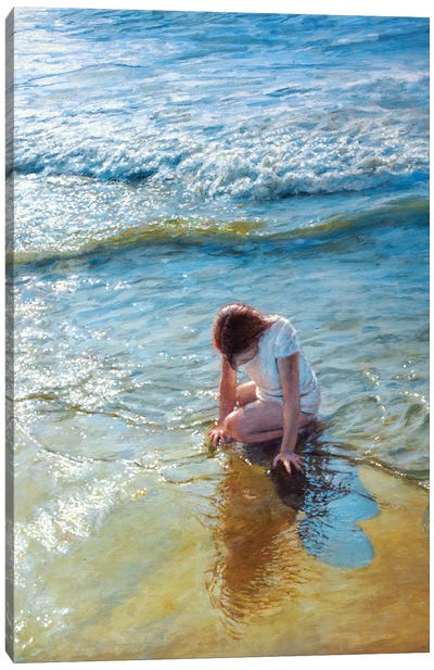 Caressed By The Ocean Canvas Art Print