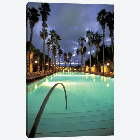 Delano Beach Club Pool, South Beach, Miami Beach, Florida, USA Canvas Print #RHI1} by Robin Hill Canvas Wall Art