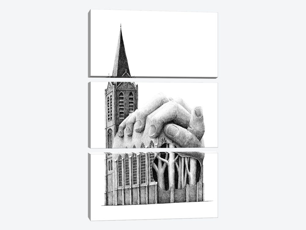 Prayer by Redmer Hoekstra 3-piece Art Print