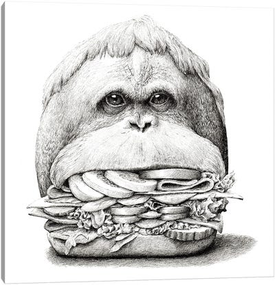 Ape Sandwich Canvas Art Print