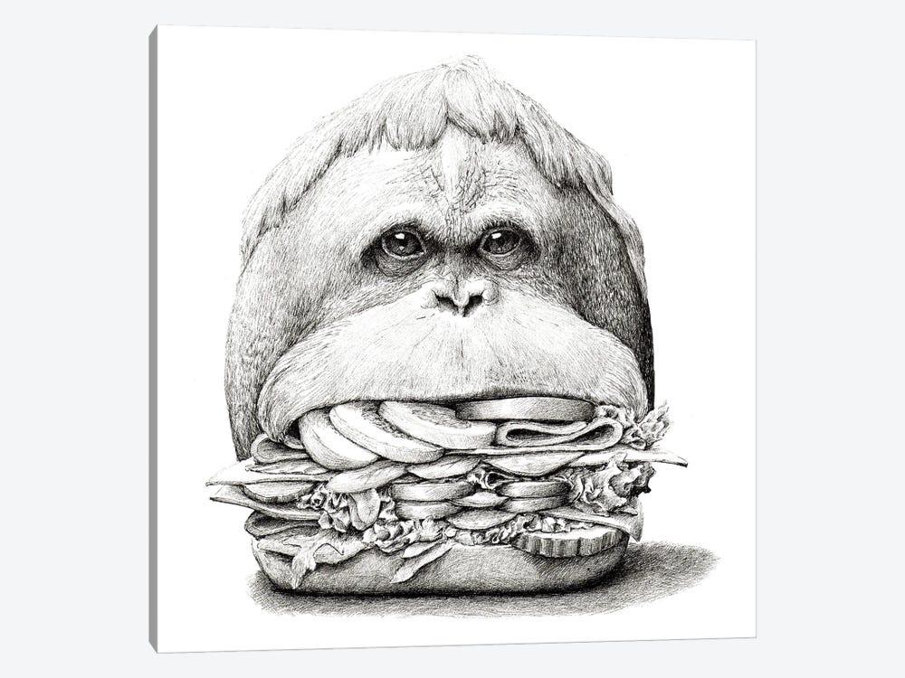 Ape Sandwich by Redmer Hoekstra 1-piece Canvas Artwork