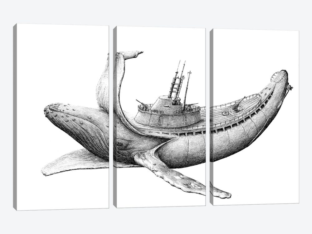 Submarine by Redmer Hoekstra 3-piece Art Print