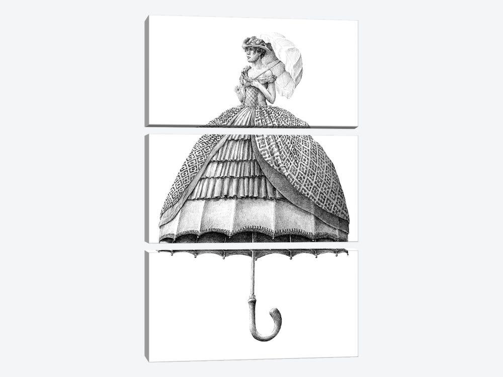 Umbrella by Redmer Hoekstra 3-piece Canvas Art