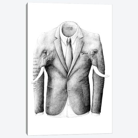 Elephantcoat Canvas Print #RHK7} by Redmer Hoekstra Canvas Art Print