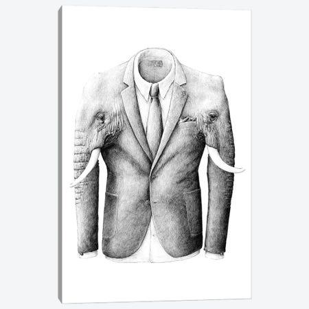 Elephantcoat Canvas Print #RHK7} by Redmer Hoekstra Canvas Art Print