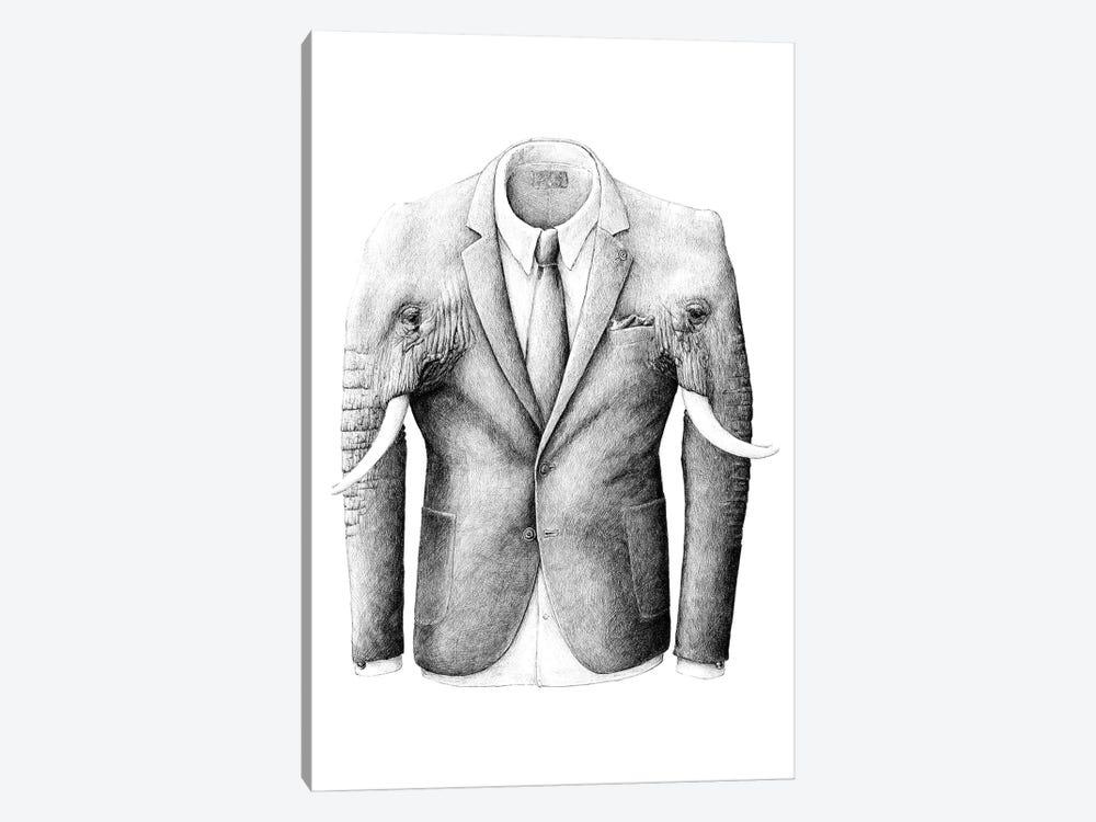 Elephantcoat by Redmer Hoekstra 1-piece Canvas Artwork