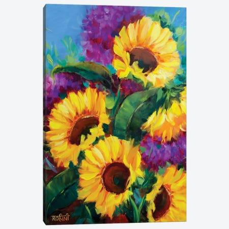 Heartwarming Spring Sunflowers Canvas Print #RHN13} by Rohini Mathur Art Print