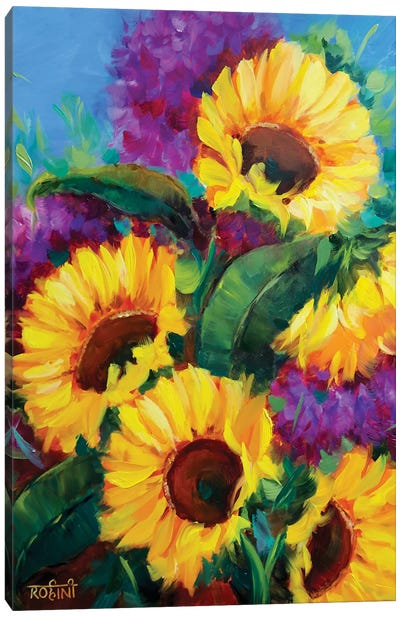 Heartwarming Spring Sunflowers Canvas Art Print