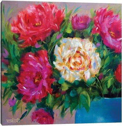 Heavenly Dancing Peonies Canvas Art Print