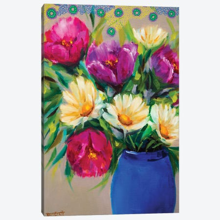 Joyful Spring Bouquet Canvas Print #RHN18} by Rohini Mathur Canvas Print