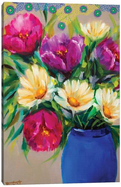 Joyful Spring Bouquet Canvas Art Print