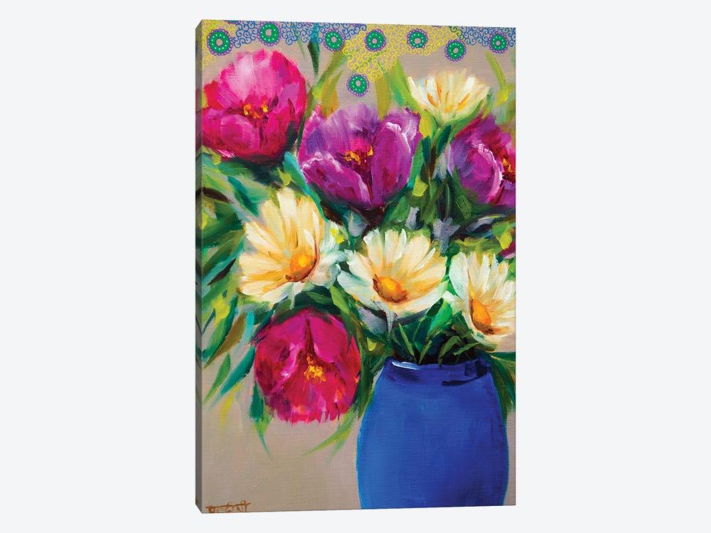 Joyful Spring Bouquet by Rohini Mathur 1-piece Canvas Art