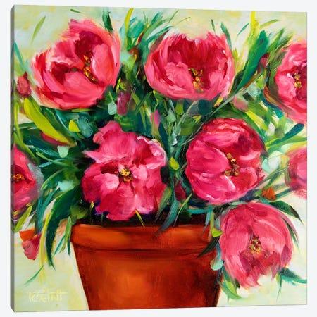 Blooming Pink Tulips Canvas Print #RHN1} by Rohini Mathur Canvas Art Print