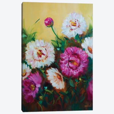Pink Sprinkles And Whispering White Peonies Canvas Print #RHN23} by Rohini Mathur Canvas Art