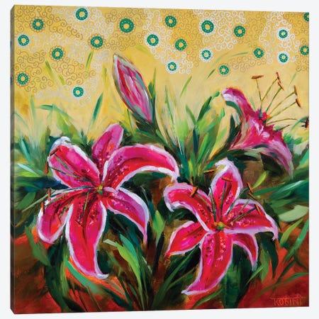 Blooming Summer Stargzer Lilies Canvas Print #RHN2} by Rohini Mathur Art Print
