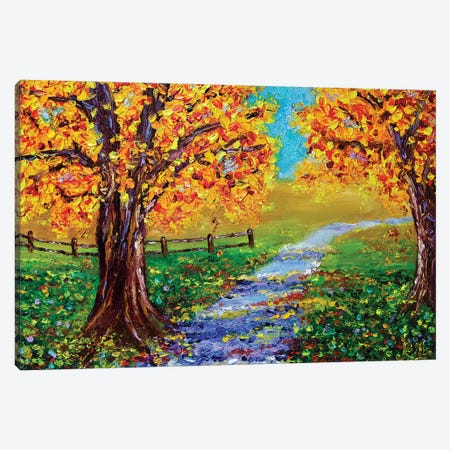 Autumn Glory Canvas Print #RHN40} by Rohini Mathur Canvas Artwork