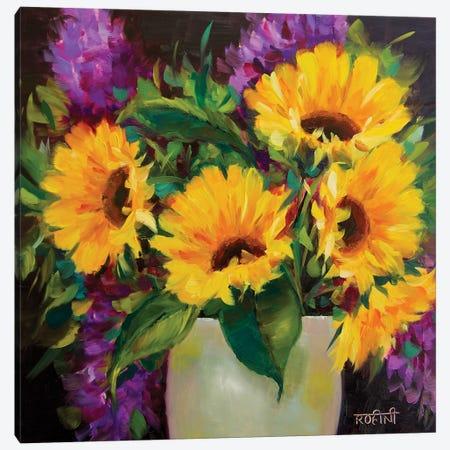 Drama Queen Sunflowers Canvas Print #RHN8} by Rohini Mathur Canvas Art Print