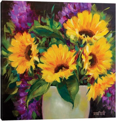 Drama Queen Sunflowers Canvas Art Print