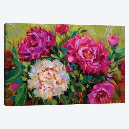 Dreamy Peonies Garden Canvas Print #RHN9} by Rohini Mathur Canvas Print