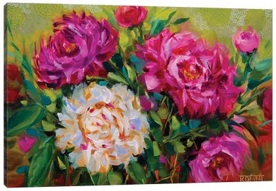 Dreamy Peonies Garden Canvas Art Print