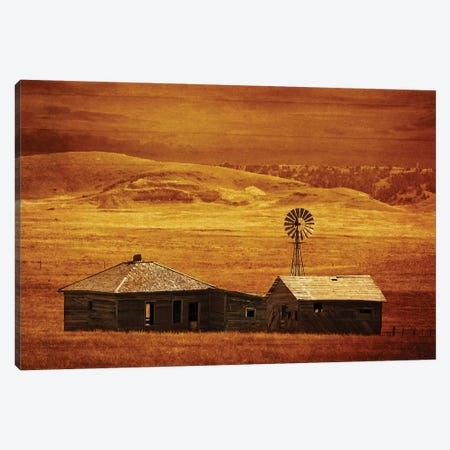 House On The Prairie Canvas Print #RHT17} by Rhonda Thompson Canvas Art