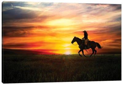 Sunrise Ride Canvas Art Print
