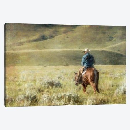Cowboy Time Canvas Print #RHT67} by Rhonda Thompson Canvas Print