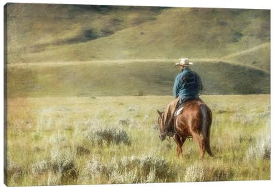 Cowboy Time Canvas Art Print