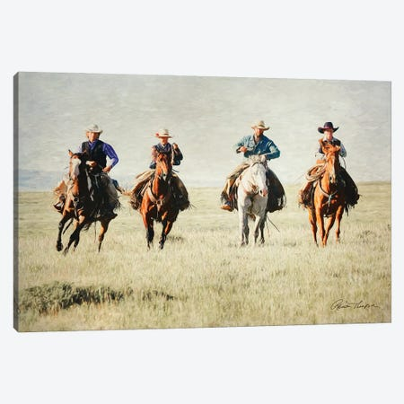 Giddy Up Horse Canvas Print #RHT68} by Rhonda Thompson Canvas Artwork